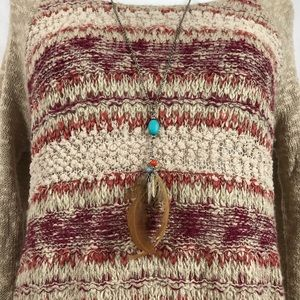Maurices Sweaters - Maurices Crochet Knit Boho Sweater L